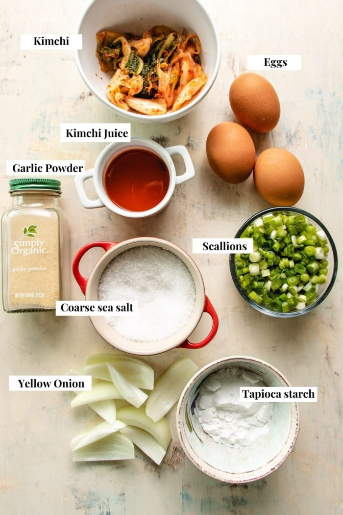 Ingredient needed to make korean pancake