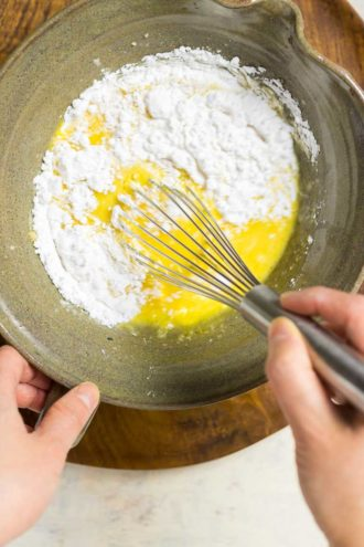 Paleo breakfast Dan Bing Taiwanese Breakfast Crepes recipe with grain-free flour batter.