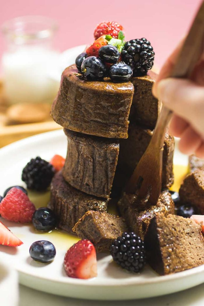 Tigernut Flour Chocolate Souffle Pancakes recipe