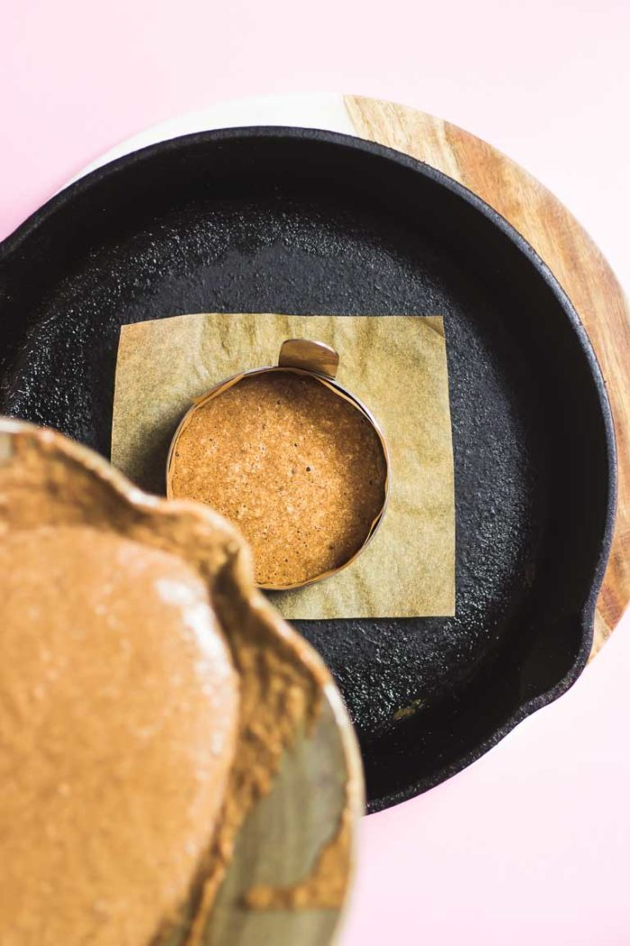 Tigernut Flour Chocolate Souffle Pancake Mold recipe
