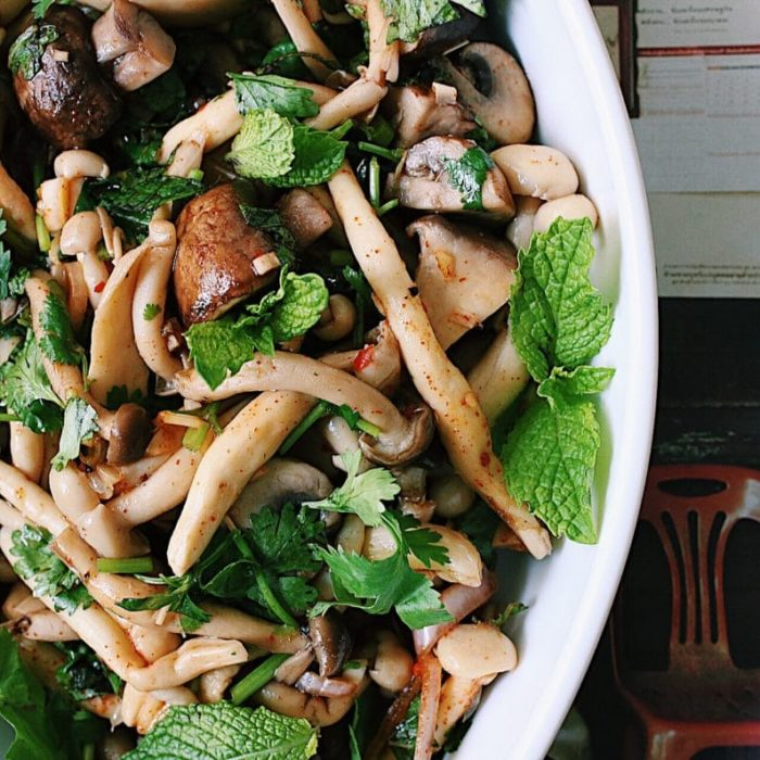 Forest mushroom salad recipe