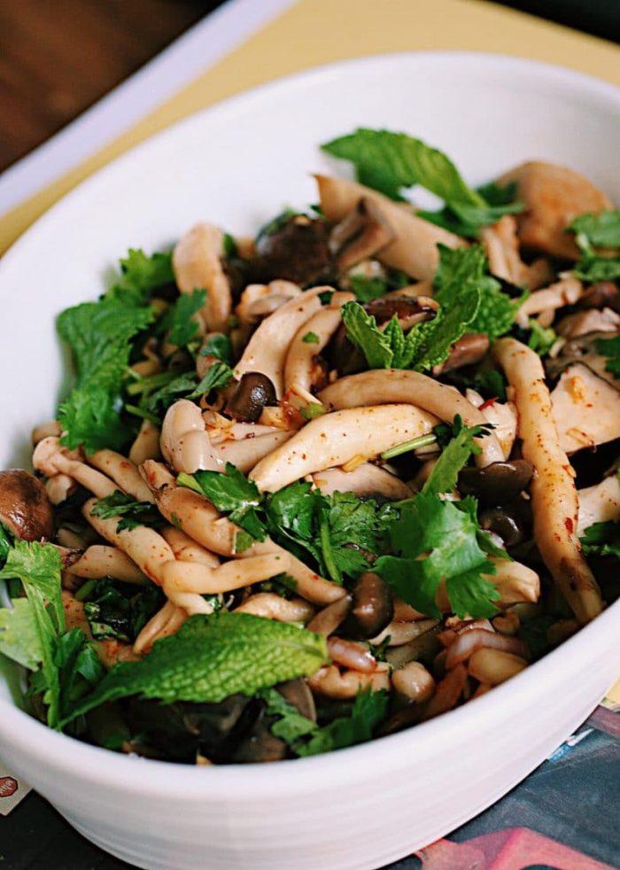 Forest mushroom salad recipe Thai style