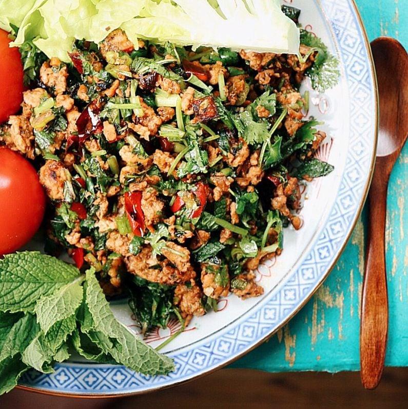 Thai Minced Chicken Herbal Salad