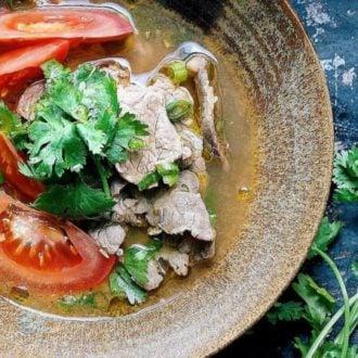 Vietnamese Pho-Inspired Tomato Beef Soup Recipe