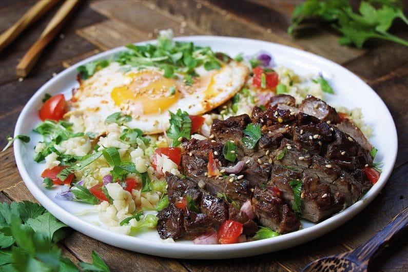 Paleo Filipino Skirt Steak Cauliflower Fried Rice