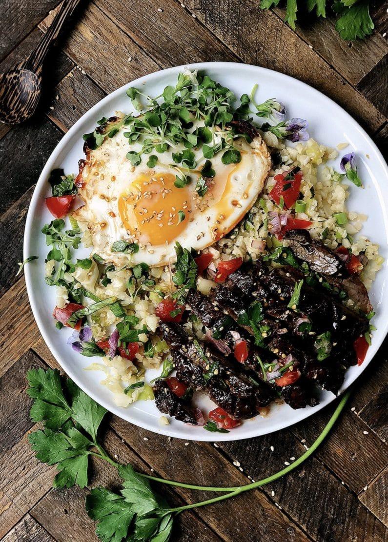 Paleo Filipino Skirt Steak Cauliflower Fried Rice Whole30 Keto Recipes