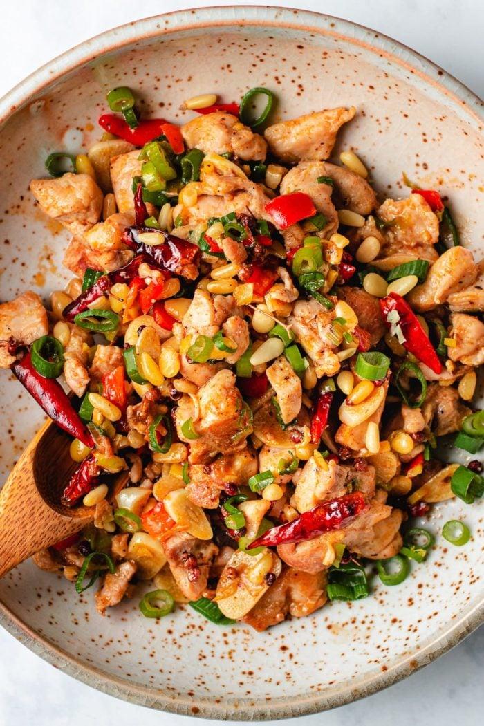 Paleo Kung Pao Chicken recipe made Whole30 and Keto friendly from I Heart Umami