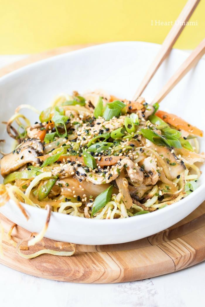 Chicken Yakisoba Noodles Recipe Paleo Whole30 Keto Low Carb