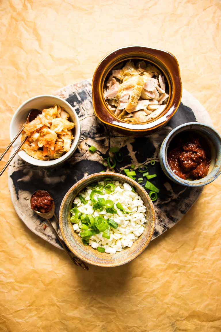 Kimchi Cauliflower Fried Rice Paleo Ingredients