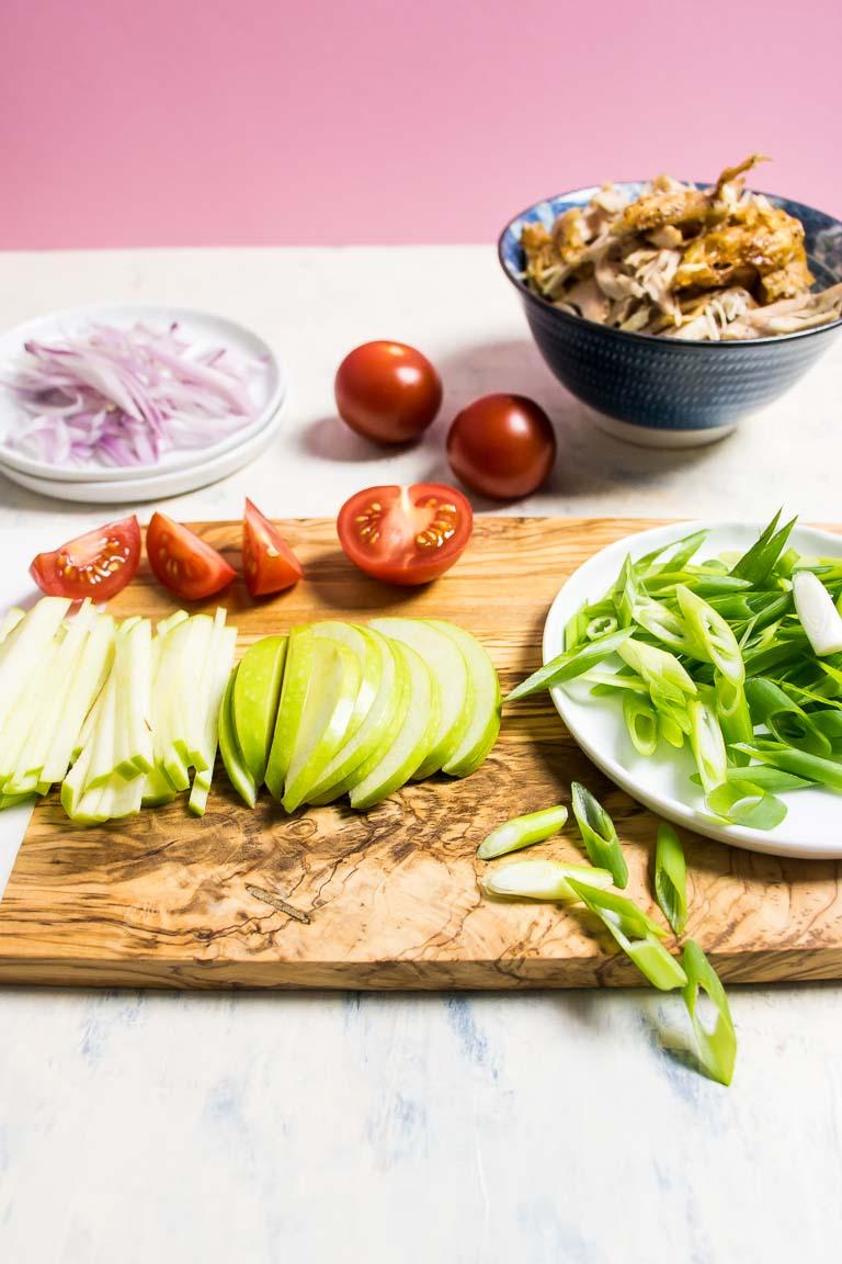 Whole30 Paleo Crispy Thai Chicken Salad Ingredients