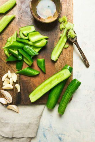 Easy Chinese Smashed Cucumber Salad recipe Paleo, Whole30, Keto, AIP cucumber salad.
