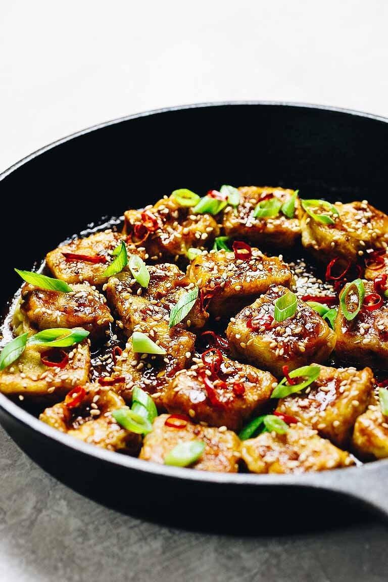 Paleo Crispy Sesame Tofu Soy Free Low Carb Keto I Heart Umami