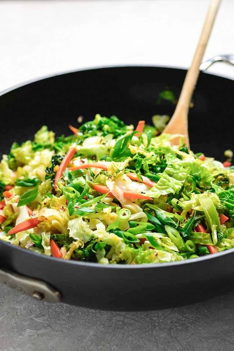 Paleo Chinese Cabbage Stir Fry Whole30 Vegan I Heart Umami