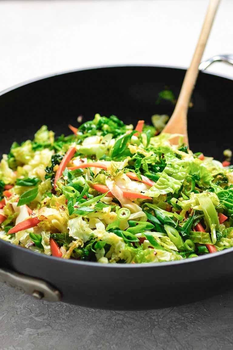 Paleo Chinese Cabbage Stir Fry Whole30 Vegan I Heart Umami