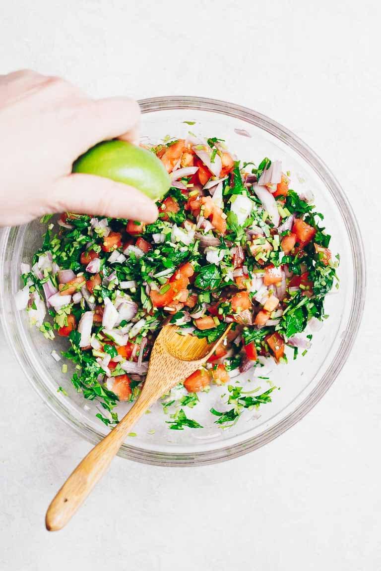Paleo fish tacos recipe with salsa sauce