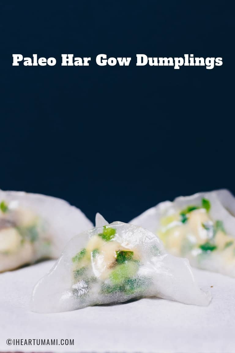 Paleo Har Gow Dumplings recipe with gluten-free har gow dumpling wrappers and dipping sauce!