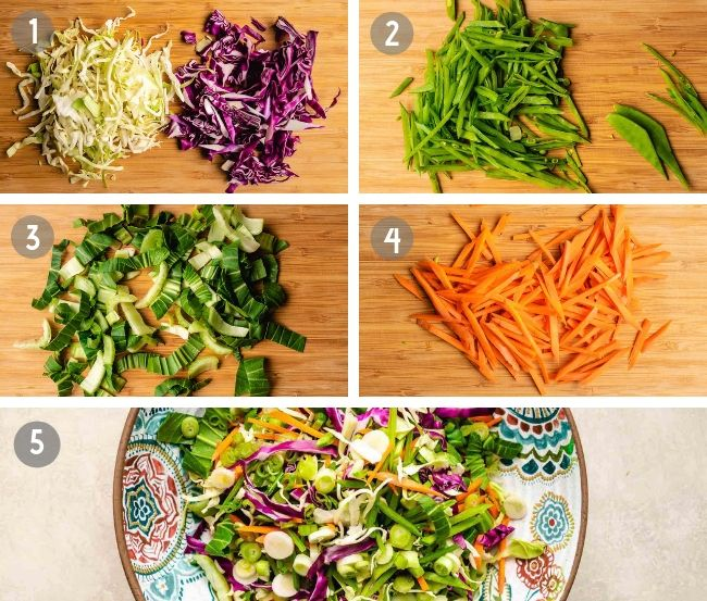 How to make Paleo Coleslaw Asian Style