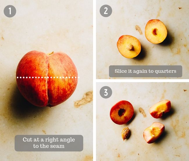 How to pit a peach in 2 steps from I Heart Umami