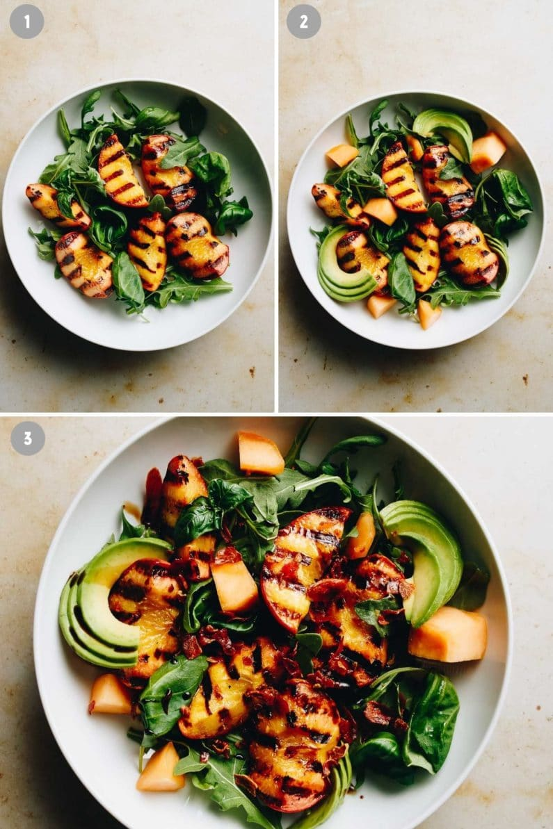 How to make a summer Peach Salad from I Heart Umami