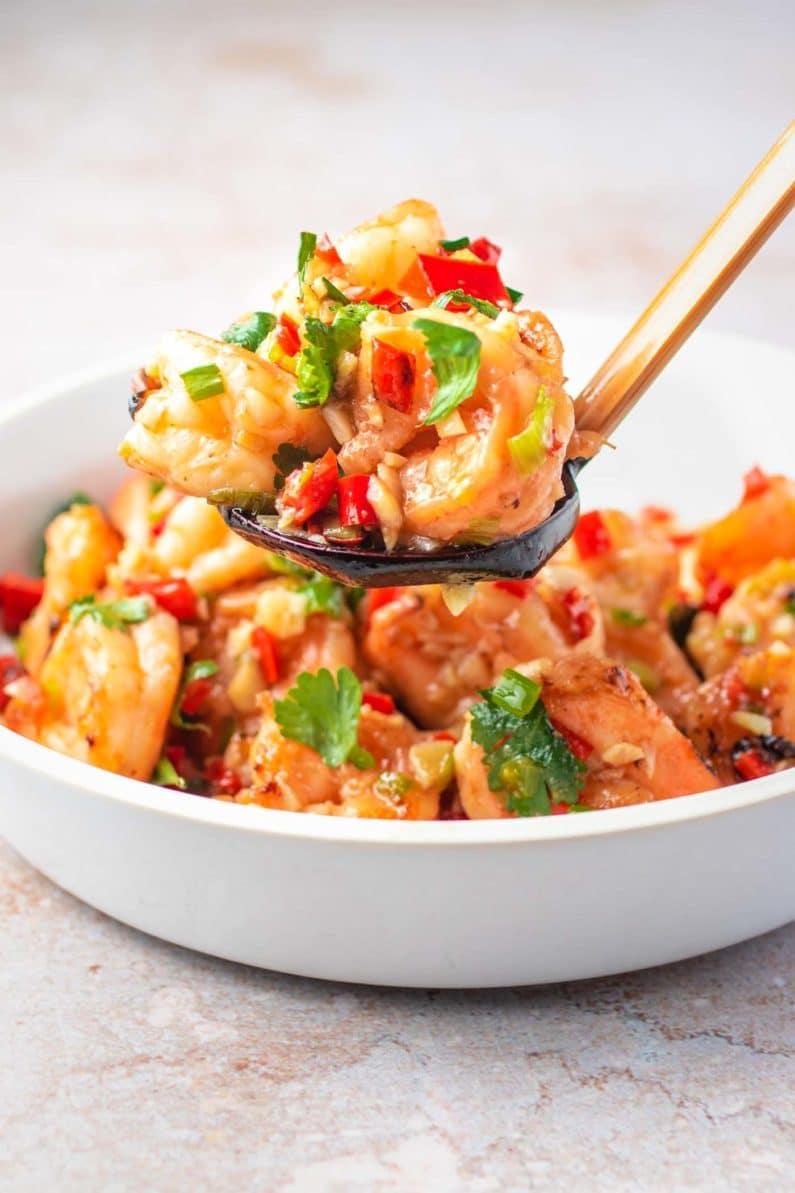 Spicy Garlic Shrimp Vietnamese style recipe I Heart Umami