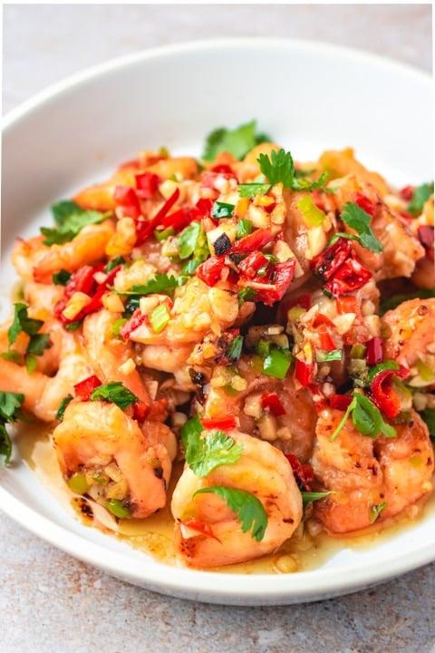 Stir-Fried Shrimp in Garlic Sauce Recipe from I Heart Umami