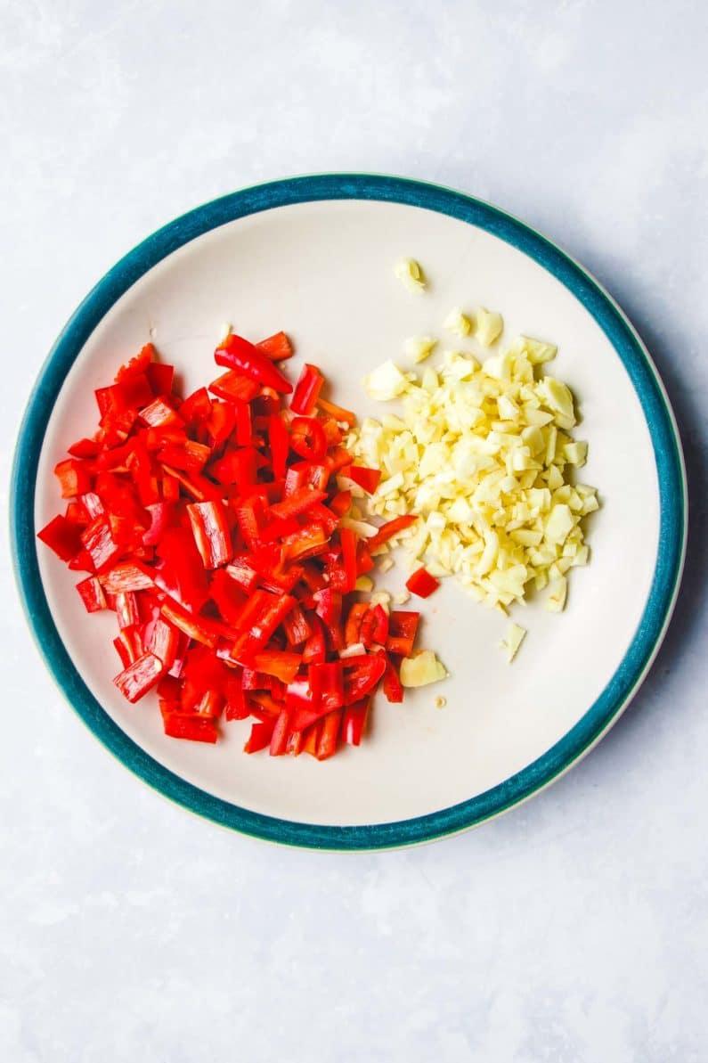 Thai chili and garlic for basil ground chicken