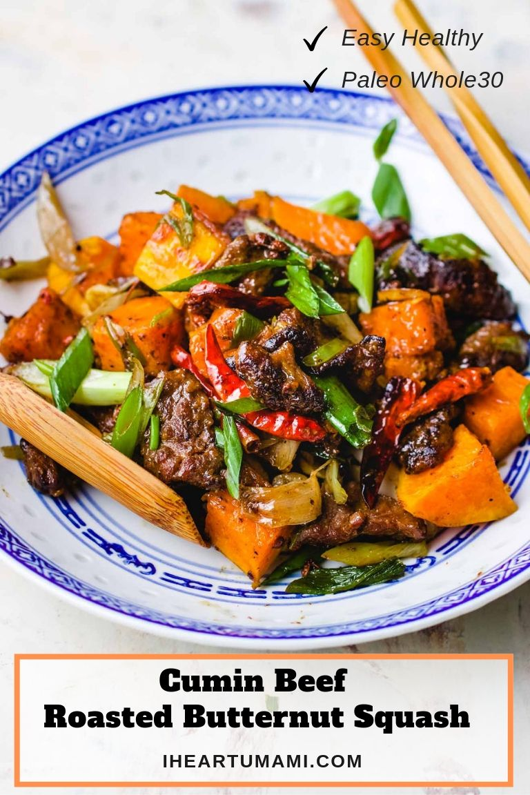 Cumin Beef with Savory Butternut Squash