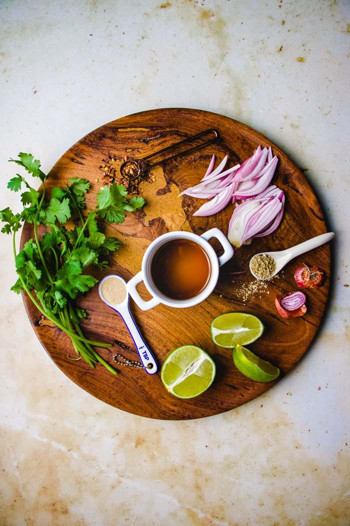 Ingredients for Nam Jim Jaew Thai Chili Sauce I Heart Umami