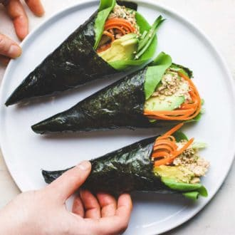 Tuna Temaki Low carb Sushi