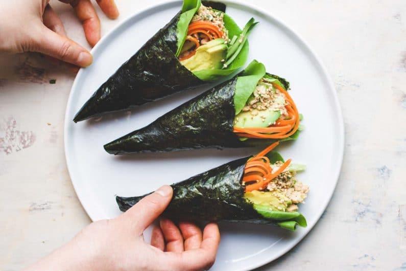 Temaki Sushi Low Carb Tuna Hand Roll I Heart Umami