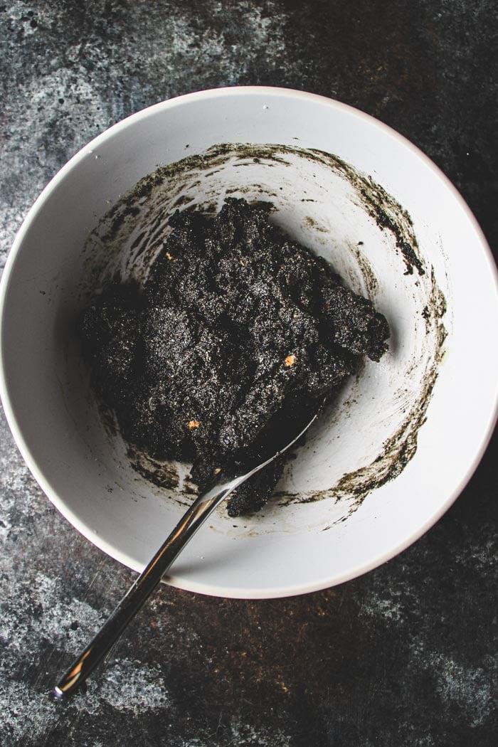 Keto Cookie Dough with Black Sesame Seeds