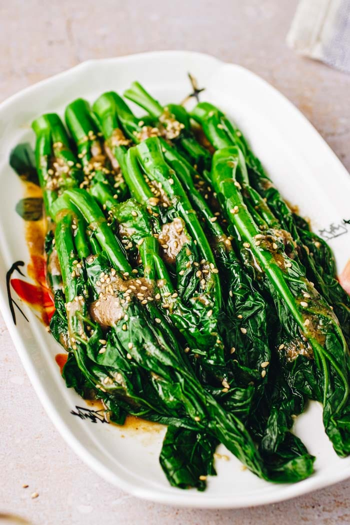 Chinese broccoli with oyster sauce recipe is gluten-free and soy-free from I Heart Umami.