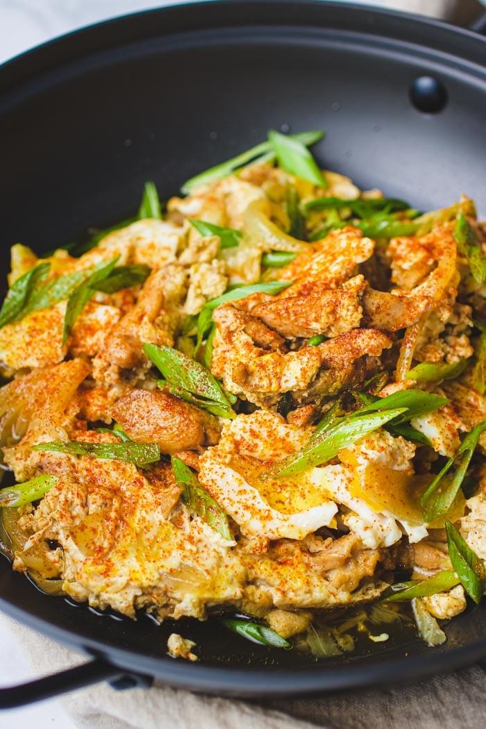 Japanese Oyakodon recipe (Oyako Donburi) gluten-free from I Heart Umami.