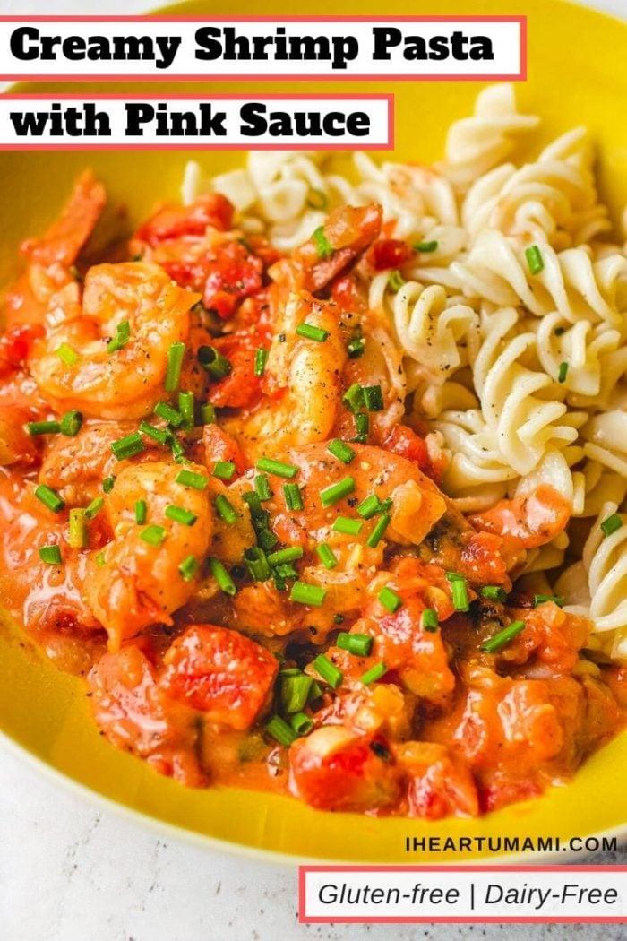Gluten Free Pasta shrimp with creamy tomato sauce I Heart umami