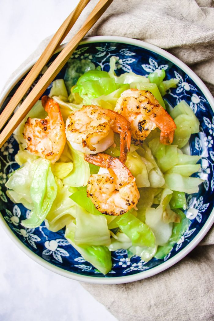 Cabbage Stir Fry with Shrimp I Heart Umami