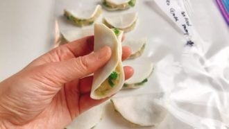 How to wrap low carb potstickers