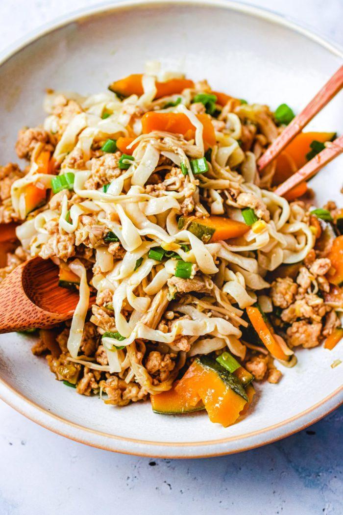 Japanese Pumpkin Squash with noodle stir-fry I Heart Umami