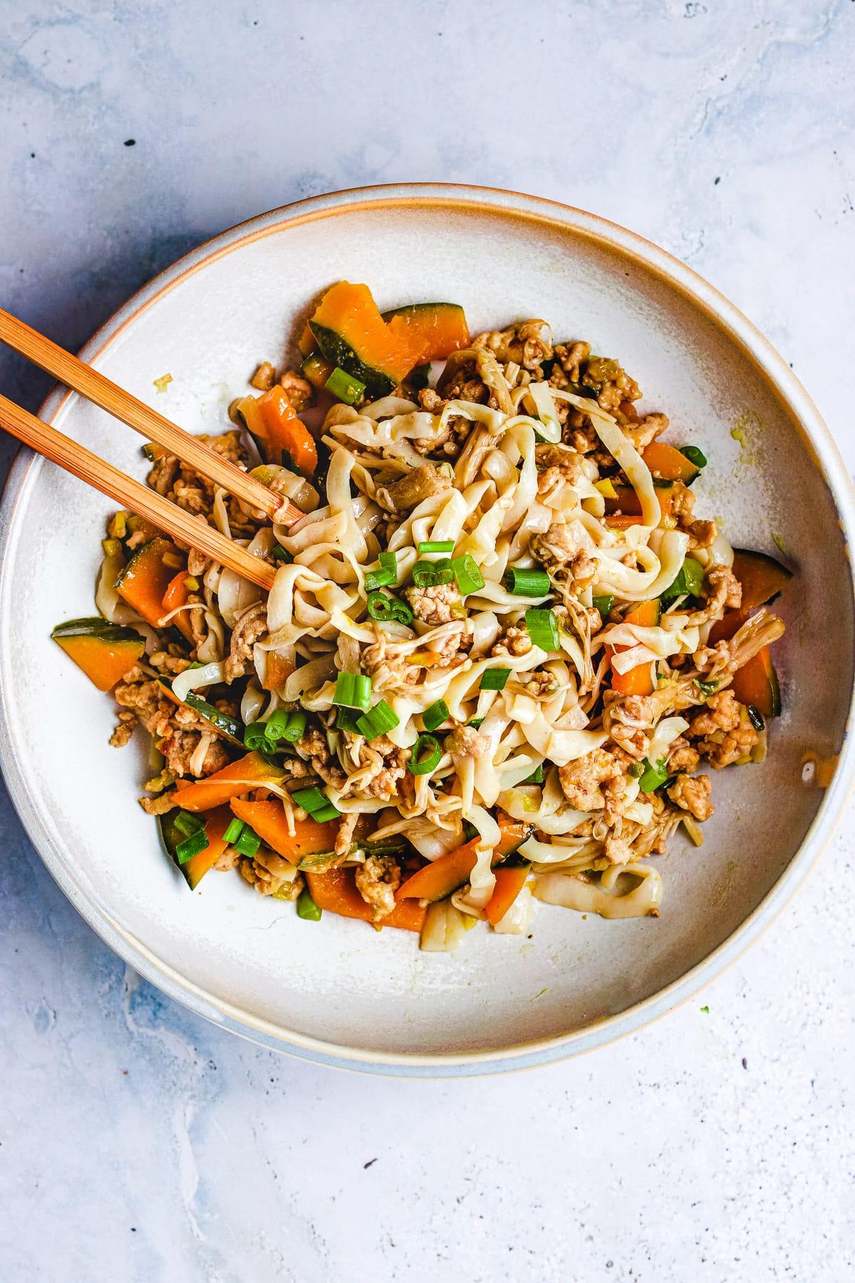 Kabocha Squash Noodle Stir Fry I Heart Umami