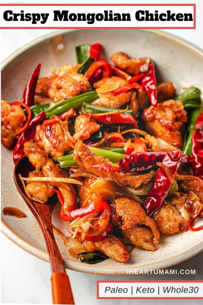 Chinese chicken recipe crispy Mongolian Chicken I Heart Umami