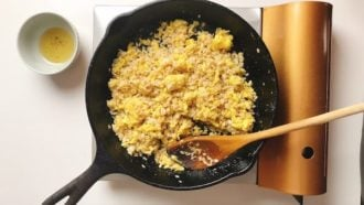 The rice grains should be distinct and not mushy for the best fried rice