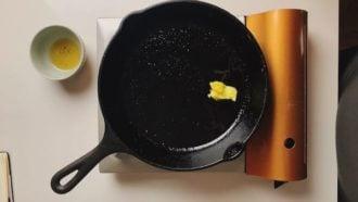 Add ghee butter for garlic fried rice