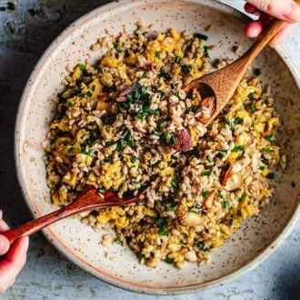 Best Fried Rice with Garlic low carb I Heart Umami