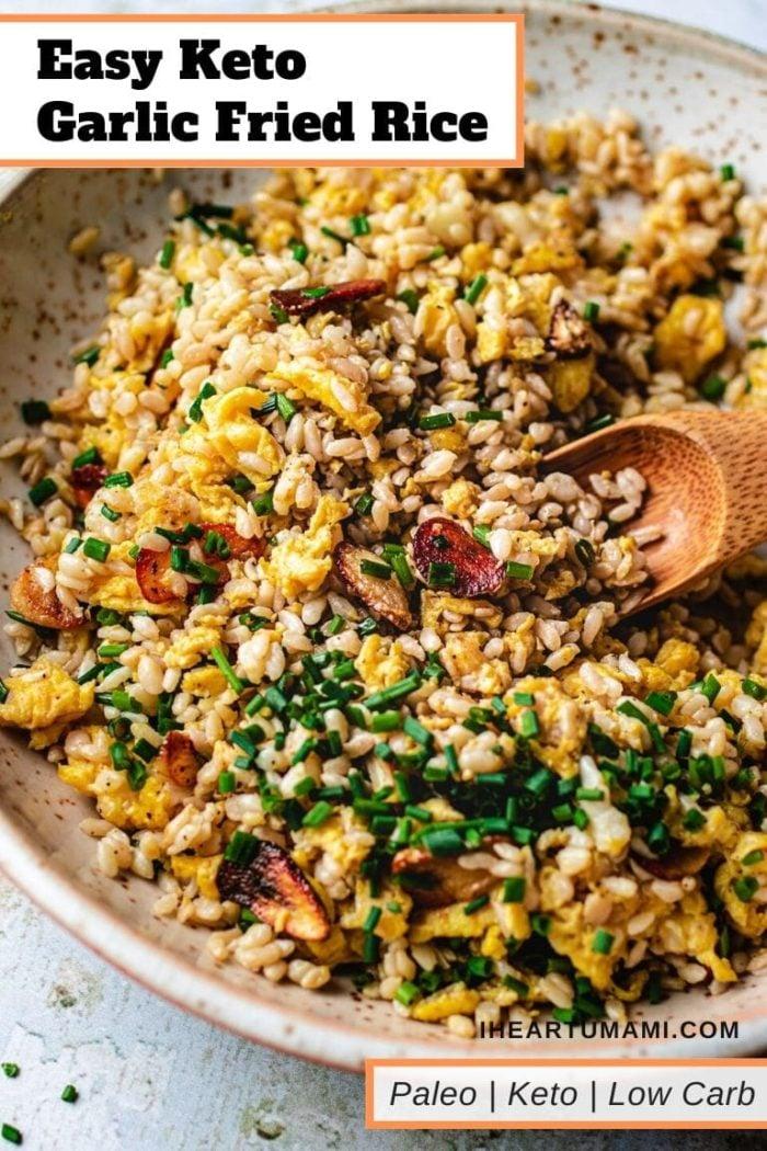 Easy fried rice keto garlic flavor I Heart Umami