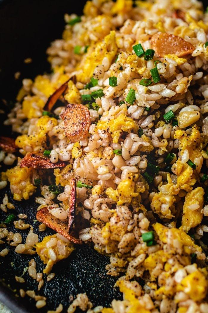 Garlic fried rice keto paleo I Heart Umami