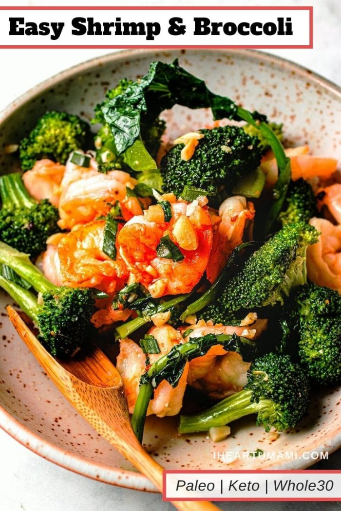 Paleo Whole30 Shrimp with Broccoli I Heart Umami