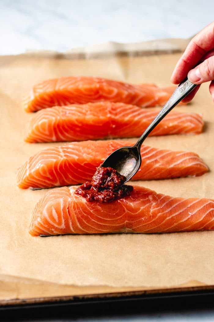 Asian Baked Salmon with Gochujang Glaze I Heart Umami