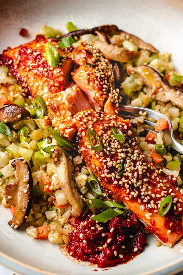 Whole30 Salmon Baked with Gochujang Glaze Paleo I Heart Umami