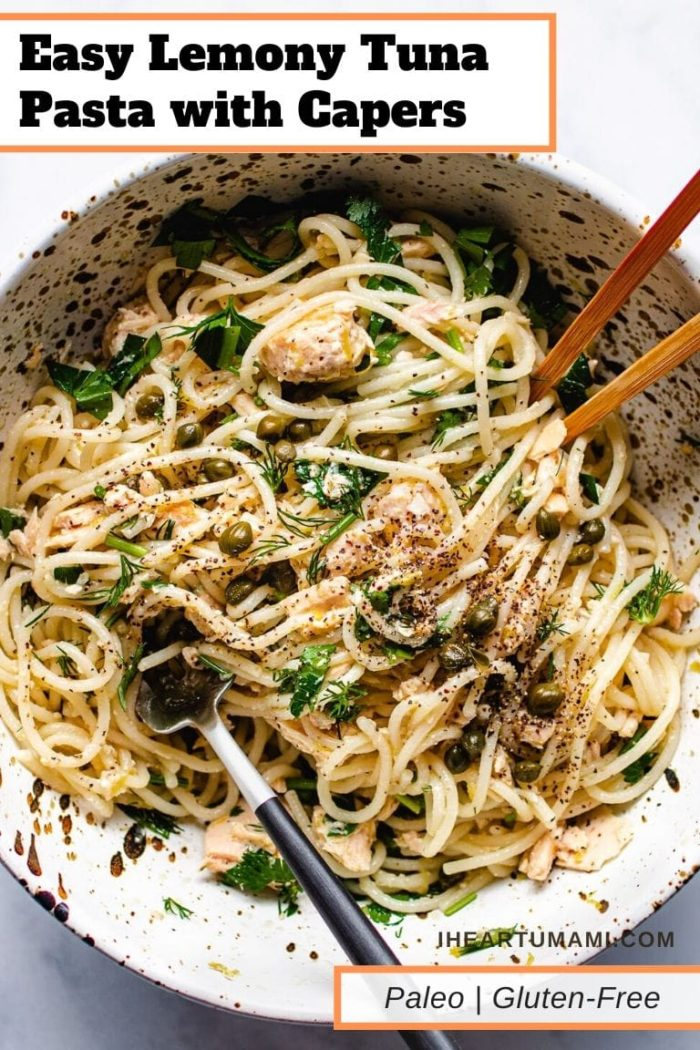 Easy Tuna Pasta gluten free paleo I Heart Umami