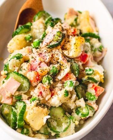 Japanese potato salad easy homemade Paleo and Whole30 I Heart Umami.