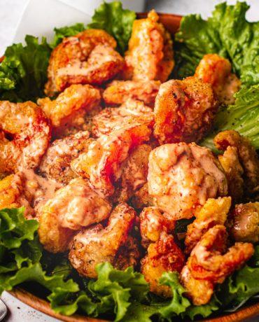 Whole30 bang bang shrimp copycat recipe from the Bonefish Grill with bang bang sauce I Heart Umami.
